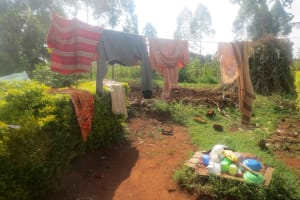 The Water Project: Emmachembe Community, Magina Spring -  Clothesline And Dishrack