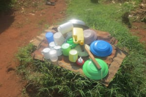 The Water Project: Emmachembe Community, Magina Spring -  Dishrack