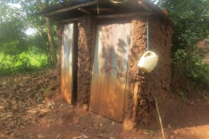 The Water Project: Emmachembe Community, Magina Spring -  Latrine And Handwashing Station