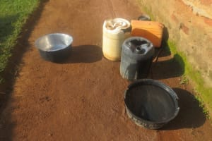 The Water Project: Emmachembe Community, Magina Spring -  Water Containers