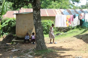 The Water Project: Masuveni Community, Masuveni Spring -  Children Playing Outside Homestead
