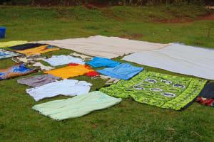 The Water Project: Masuveni Community, Masuveni Spring -  Clothes Drying