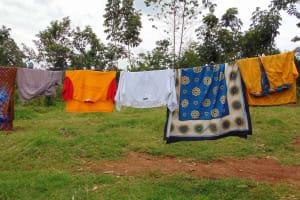 The Water Project: Masuveni Community, Masuveni Spring -  Clothesline