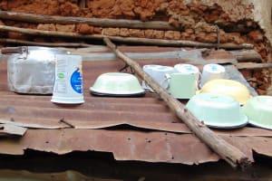The Water Project: Masuveni Community, Masuveni Spring -  Dishes Drying