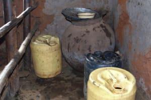 The Water Project: Masuveni Community, Masuveni Spring -  Water Storage