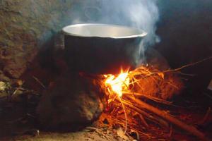 The Water Project: Masuveni Community, Masuveni Spring -  Fireplace