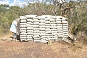 The Water Project: Kangalu Community A -  Cement Bags