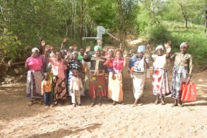 The Water Project: Kangalu Community A -  Shg Members At The Well