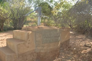 The Water Project: Kangalu Community A -  Well And Plaque