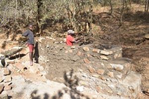 The Water Project: Kangalu Community A -  Well Construction