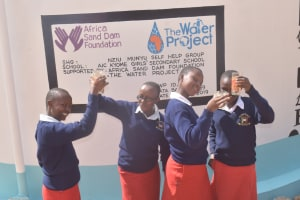 The Water Project: AIC Kyome Girls' Secondary School -  Celebrating The Tank