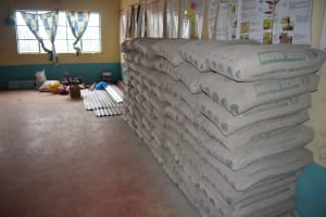 The Water Project: AIC Kyome Girls' Secondary School -  Cement Bags