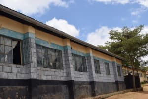 The Water Project: AIC Kyome Girls' Secondary School -  Classrooms With Guttering To Collect Rainwater