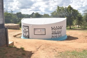 The Water Project: AIC Kyome Girls' Secondary School -  Completed Tank
