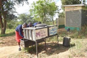 The Water Project: AIC Kyome Girls' Secondary School -  Handwashing Stations