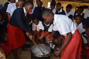 The Water Project: AIC Kyome Girls' Secondary School -  Soapmaking