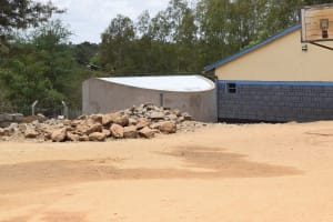 The Water Project: AIC Kyome Girls' Secondary School -  Tank On School Grounds