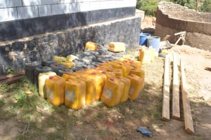 The Water Project: AIC Kyome Girls' Secondary School -  Water Containers For Construction