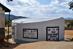 The Water Project: Matiliku Primary School -  Painted Tank