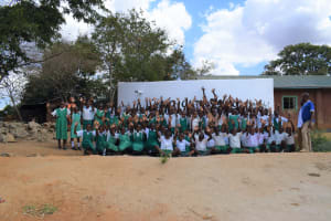 The Water Project: Matiliku Primary School -  Students Celebrate At The Tank