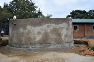 The Water Project: Matiliku Primary School -  Tank Cement Dries