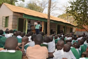 The Water Project: Matiliku Primary School -  Trainer Speaks To Students About Hygiene And Sanitation
