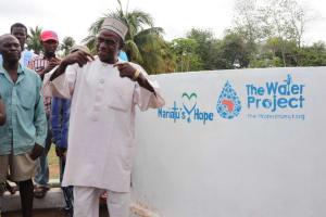 The Water Project: Gbontho Lane, Behind Gbontho Mosque -  Chief Pa Santigie Kamara Making Statement