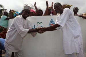 The Water Project: Gbontho Lane, Behind Gbontho Mosque -  Mr Akai Community Stakeholder And Chief Pa Santigie Celebrate