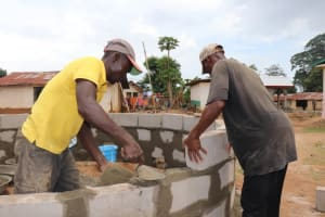 The Water Project: Gbontho Lane, Behind Gbontho Mosque -  Pad Construction