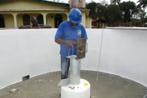 The Water Project: Gbontho Lane, Behind Gbontho Mosque -  Pump Installation