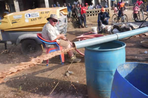 The Water Project: Gbontho Lane, Behind Gbontho Mosque -  Yield Test