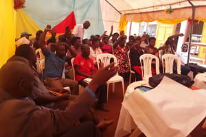 The Water Project: Kikube Nyabubale Community -  People Participate In Training