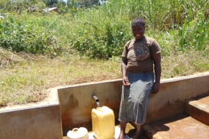 The Water Project: Shirugu Community, Jeremiah Mashele Spring -  Maureen Khavetsa