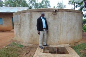 The Water Project:  Head Teacher Francis Shibira