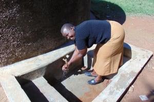 The Water Project: Mavusi Primary School -  Sanitation Teacher Mrs Everline Nkumu