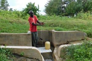 The Water Project: Shibuli Community, Khamala Spring -  Jeremiah Omuruya