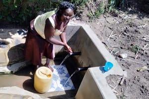 The Water Project: Matsakha Community, Mbakaya Spring -  Water Committee Secretary Medline Baraza