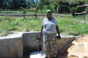 The Water Project: Luyeshe Community, Matolo Spring -  Water Committee Secretary Bilha Matolo
