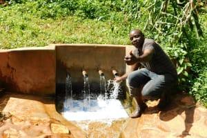 The Water Project: Shirakala Community, Ambani Spring -  Titus Isaac Water Committee Treasurer