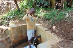 The Water Project: Musiachi Community, Thomas Spring -  Austine Amumbwe