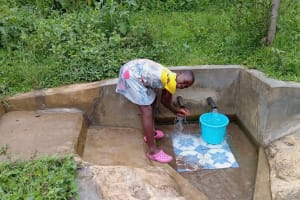 The Water Project: Luvambo Community, Timona Spring -  Tabitha Sunguti At The Spring