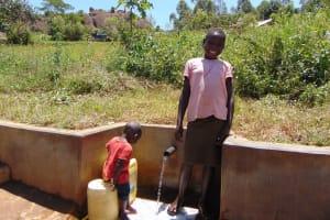 The Water Project: Shirugu Community, Jeremiah Mashele Spring -  Precious Ilahasa
