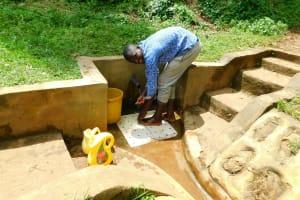 The Water Project: Samisbei Community, Isaac Rutoh Spring -  Calvin Kipchumba
