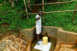 The Water Project: Asimuli Community, John Omusembi Spring -  Joseck Onyino