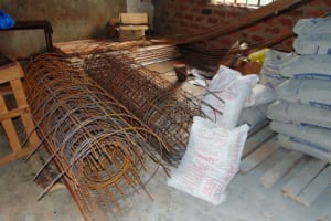 The Water Project: Magaka Primary School -  Bags Of Cement And Rebar