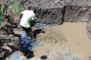 The Water Project: Shihungu Community, Shihungu Spring -  Laying The Springs Foundation