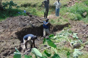 The Water Project: Sasala Community, Kasit Spring -  Excavation Begins
