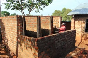 The Water Project: Magaka Primary School -  Fitting The Door Frames