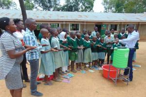 The Water Project: Lwanga Itulubini Primary School -  Handwashing Demonstration