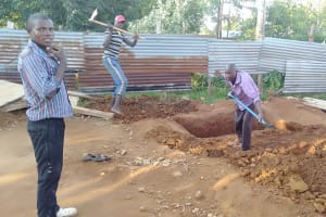 The Water Project: Friends Primary School Givogi -  Digging Latrine Pits